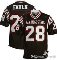 Wholesale Marshall Faulk San Diego State Aztecs Marshall Faulk White Jersey size Small m l xl xl xl custom jersey top quality