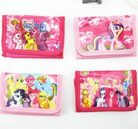 Wholesale Children wallet My little pony Cartoon purse girls cartoon spiderman Frozen hero Disney princess car Wallet Party Supplies kids gifts