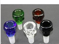 amber skull - Smoking bong bowls mm joint skull glass bowls for glass water pipe and bongs blue black green clear amber yello