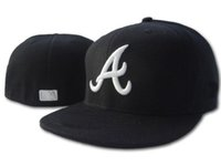 atlanta baseball hat - 594 New Atlanta Braves Medium Raised Embroidery Letter Fitted Hat Structured Fit Classic on field High Crown Baseball Cap
