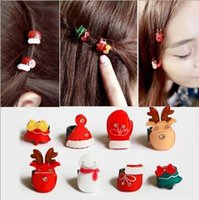 Wholesale Christmas Gift Tree Snow Decoration Girls Hair Pins Barrettes Clips Hair Accessories