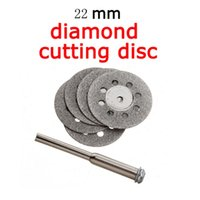 Wholesale 5X mm Emery Mini Diamond Rotary Cutting Discs Drill Bit Mandrel