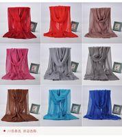 achat en gros de usine foulard musulman-2016 Promotion Pure Color Voile Echarpe Europe Et Les Etats-Unis Unique Est Prévenue Bask Dans Long Beach Foreign Muslim Sac Head Factory