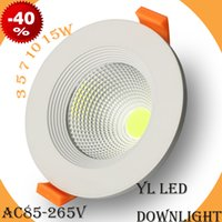Wholesale W inch High power Led COB ceiling Lights LED down lighting with driver for Bathroom Study Bedroom Pub
