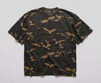 Wholesale 2016 New Hot hiphop fashion urban clothing kpop drake justin bieber Kanye west camo oversized t shirt yeezy camouflage Tee