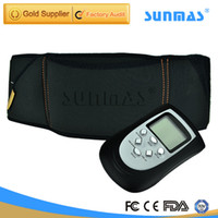 Wholesale SUNMAS Electric TENS Body Massager Belt Tools Professional Electro Muscle Stimulation Slimming For Back Arm Neck Leg