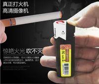 Wholesale Black Portable Mini DV P HD Hidden Spy Lighter Camera USB Hidden Cam Camcorder Video Recorder with No hole with Retail Box