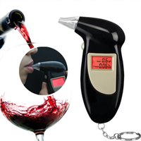 Wholesale Digital LCD Breath Alcohol Breathalyzer Analyser Tester Test Detector Keychain NEW
