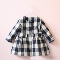 acrylic clothing brand - Christmas Sweet Kids Girls Plaid Jackets Outwears Western Vintage Gray and Red Color Party Clothing