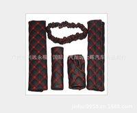 Wholesale Gear gear rearview mirror handbrake wine shoulder five piece suit car interior