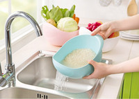 basin machine - Plastic Clean Rice Machine Vegetables Basin Wash Rice Sieve Fruit Bowl Fruit Basket kitchen good cooking tools cm