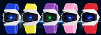 airplane pins - LED silicone watch men digital led wrist watch sports airplane design jelly silicone led watch