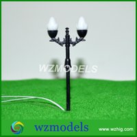 architectural street lighting - Promotion Architectural Model Lamp Miniature Double head Street Light Model cm