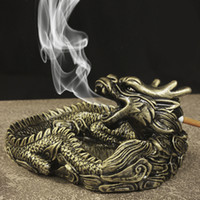 Wholesale Creative Design Unique Portable Living Room Ashtray for Car interior Home Frame dragon ashtray as gift for friends