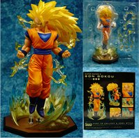 Wholesale Dragon Ball Z Action Figures Figuarts Zero Super Saiyan Son Goku DBZ Model Toys Anime Dragonball mm PVC Toy