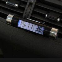 audio electronics supply - Interior Accessories Ornaments Car Clock Electronic Lcd Thermometer Electronic Uminous Clock Auto Supplies pc clock audio