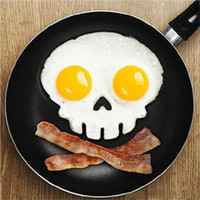 Wholesale 2016 Cooked Fried egg Skull owl shaper silicone moulds egg ring silicone mold cooking tools christmas supplies Fried Egg Mold Pancake