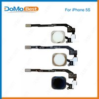Wholesale 50pcs Salefor Apple Iphone s for iphone5s Home Menu Button Key return Flex Cable Ribbon Assembly Sensor