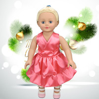 american girl doll clothes handmade - Christmas Gifts For Children Girls Doll Accessories Handmade Princess Dress For American Girl Dolls Clothes variety of options YF280
