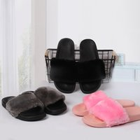 Wholesale Hot Women Slippers Indoor Sandals Girls Fashion Scuffs Pink Black Grey Slide The high quality