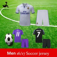 adult football leagues - Adult suit ronaldo soccer jerseys Champions League RONALDO Jersey rd white Black Madrid Black Purple Soccer Jerseys Football