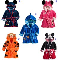 Wholesale Soft Warm Baby Girl Kids Boy Night Bath Robe Fleece Bathrobe sleepwear Homewear Pajamas Clothing