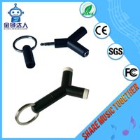 audio sharing - Share music factory supply headphone input output black colour audio video splitter