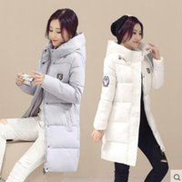 Wholesale 5 colors New Long Parkas Female Women Winter outcoat Thickening Cotton Winter padded coat Womens Parkas for Women Winter OutwearOutwear