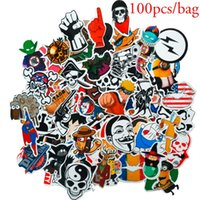 Wholesale 100 Random Art Decal Glue Graffiti Sticker Bomb Laptop Skate Suitcases Bike Motor Car Waterproof Stickers