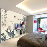 asia manufacturers - Flowers butterfly text seal wallpaper indoor background of the Hostel Trim tea bar KTV manufacturers direct delivery speed