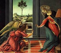 angels madonnas - Sandro Botticelli Cestello Annunciation Madonna angel Pure Handicrafts Art oil painting On High Quality Canvas in custom sizes