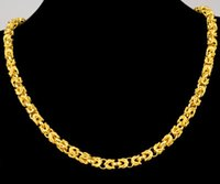 best buy china - best buy fine Yellow Gold jewelry K yellow solid gold necklace mens domineering leader necklace wide mm length cm g