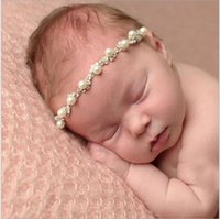 baby bling jewelry - 2016 New Newborn Baby Jewelry Crystal Headband Bling Pearl Rhinestone elastic Headbands headwrap Infant Baby Girls Phtography Props For Gift