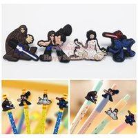 Wholesale Mixed Star war Action figures Cartoon PVC Pencil Topper Pen Caps Decorative Caps School Supplies Party gifts for kids
