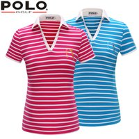 Wholesale Brand POLO Golf V Short Sleeve Shirt Golf Sportswear Outdoor Wear Lady Golf Apparel Fashion Summer Clothing Quick Dry New Tshirt