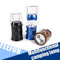 Wholesale Solar LED Camping Light Rechargeable with USB Foldable Camping Light UltraBright LED Portable Camping Light Portable Lamps