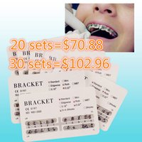 Wholesale 10 Sets Dental Metal Bracket dental bracket brace set Dental material OrthodonticBraces MINI ROTH Hooks New