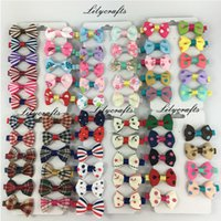 Wholesale 1 mini cute baby ribbon grosgrain hair bow clip colors for teens kids toddlers with covered alligator clip lilycrafts hair pin bow