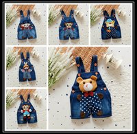 bebe jeans - 2016 Spring baby rompers Animal Boy s Girl s Jumpsuit roupas de bebe Denim Overalls infant costumes Baby Clothing