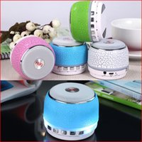 audio pattern - A7 portable mini bluetooth speakers with LED light stone pattern subwoofers bluetooth speaker with LED flash light support TF card FM radio