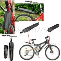 best bike mudguards - Best Price Black Flexible PVC Plastic Bike Bicycle Road Tyre Tire Front Rear Mudguard For Cycling Mudguard