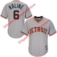 al collection - Men s Detroit Tigers Al Kaline Majestic Gray Road Cool Base Cooperstown Collection Player Jersey