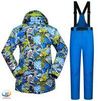 Wholesale new snowboard women ski suits jacket pants waterproof breathable thermal padded super warm ski wear high