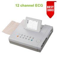 Wholesale via DHL in LCD display Digital channel ECG Machine month warranty EKG Electrocardiogram