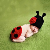 baby sweaters to knit - Handmade wool knitting baby cartoon shape sweater baby months one hundred days to take photos photographer ladybug costume
