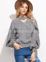 Cheap Autumn Clothing Lace Sleeve Shirt Jacket Blouse Woman Plus Size Tops For Women Clothes Chiffon Dudalina Printing Tank