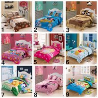 Wholesale 3pcs set Style Cotton Poke Go Pikachu Mickey Minnie Bedding Set Kids Cartoon Duvet Cover Bed Sheet Children Nursery Bed CCA4978 set