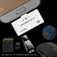 mouse card reader - All in OTG USB Micro SD Card Reader Host Adapter Mouse Memory Stick For Samsung Galaxy Note II IV S3 S4 S5 S6 edge