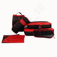 bags holdalls - 100PCS LJJL162 Organizer Makeup Traveling Colors Bag Toiletry Waterproof Storage Pouch Multifunction Holdall Suitcase Clothes Luggage Sets