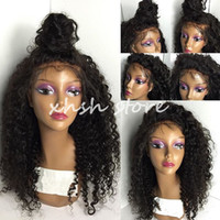 Wholesale Curly Brazilian Full Lace wigs Hair Glueless Full Lace Human hair wigs with baby hair lace front wig for black women